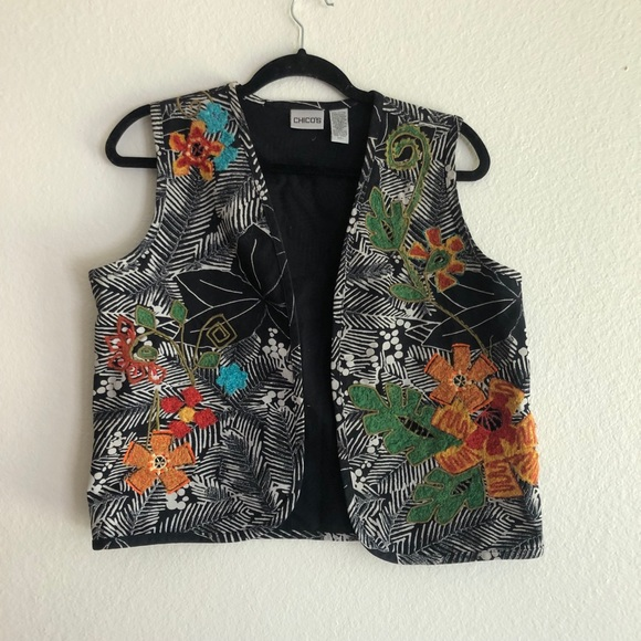 Chico's Jackets & Blazers - Chicos embroidered vest